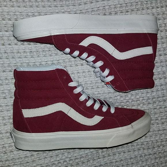 608b83c686 NWT Van s Sk8-Hi Maroon Skate Shoe High Tops